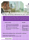 Corporate Social Responsibilty workshop flyer- Brochure