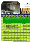 How Green is your Office workshop and flyer- Brochure