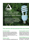 Reduce Your Environmental Footprint & Cut Costs - Green Profit Seminar Leaflet Brochure (PDF 129 KB)