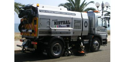Sicas - Model Mistral Series - Truck Mounted Road Sweeper with Suction Collection System
