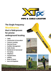 Schonstedt - Model XTpc - Pipe & Cable Locator - Brochure