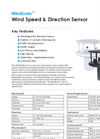 WindSonic 2-Axis Ultrasonic Anemometer Datasheet