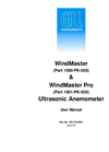 WindMaster & WindMaster Pro Ultrasonic Anemometer User Manual
