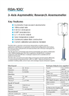 R3A-100 - 3D - Professional Research Anemometer - Asymmetric Head Datasheet