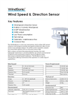WindSonic - Low Cost Ultrasonic Wind Sensor - Datasheet
