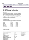 I8-20A - Animal Incinerator Brochure