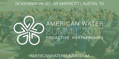 The American Water Summit 2017: Proactive Partnerships