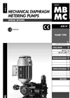 Model MB and MC Serires - Mechanical Diaphragms Metering Pumps - Manual