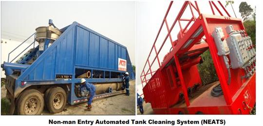 Non-man Entry Automated Tank Cleaning System (NEATS)