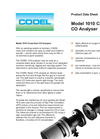 Model 1010 - Single Channel Cross Duct CO Gas Analyser Datasheet