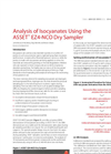 Analysis of Isocyanates Using the ASSET™ EZ4-NCO Dry Sampler