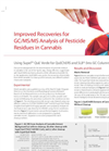 Improved Recoveries for GC/MS/MS Analysis of Pesticide Residues in Cannabis - Brochure