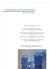 WR, WV & WP Series - Submersible Waste Water Pumps Brochure
