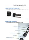 Instructions - Check Valve PP - Brochure