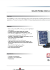 Model CP1003 - Solar Power High Liquid Alarm Brochure