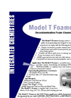 Model T Foamer - Decontamination Foam Cleaning System - Brochure
