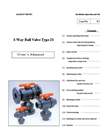 Type 23 - Multiport Thermoplastic Ball Valves (1/2 to 6) – Manual