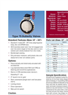 Type 75 Thermoplastic Butterfly Valves - Datasheet