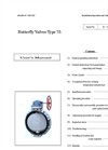 Type 75 Thermoplastic Butterfly Valves – Manual