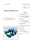 Thermoplastic Ball Check Valves-Single Union – Manual