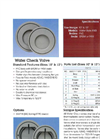 Wafer Check Valves Data Sheet