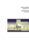 Buck Scientific - 410 - Mercury Analyzer Manual