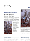 GEA Filtration - Model M - Membrane Filtration Pilot Plant - Specification Sheet