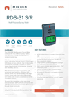 Model RDS-31 - Modular Radiation Survey Meter Brochure