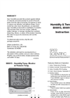 Model 800015, 800016, 800027 - Humidity & Temp. Monitors - Instruction Manual