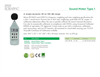Model Type 1 - 840015 - Sound Meter - Datasheet