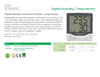Sper Scientific - Model 800016 - Digital Humidity Temperature Monitor - Datasheet