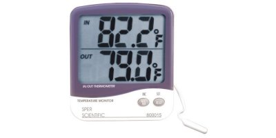 Sper Scientific - Model 800015O - Large Display Indoor/Outdoor Thermometer with Min/Max Memory