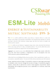 Energy & Sustainability Metric Software