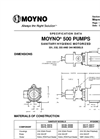 Moyno - 500 - Sanitary Pumps – Specifications