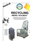 KBM MICRO IN-A-BOX Recycling EPS EPP