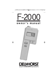 Model F-2000 - Moisture Meters- Brochure