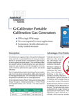 G-Calibrator Calibration Gas Generators Brochure (PDF 270 KB)