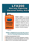 Model LTX200 - One-Way Signaling Man Down Alarm Devices Brochure