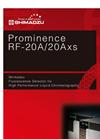 Prominence RF-20A/RF-20Axs Fluorescence Detectors Brochure