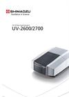 UV-2600/2700 UV-Vis Spectrophotometers Brochure