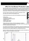 Fuel-Grade Ethanol Production HPLC System Brochure