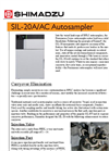 Shimadzu - Model SIL-20A/20AC - Prominence HPLC Autosamplers - Brochure