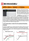 Shimadzu - Model SPD-M20A - High Performance Liquid Chromatography PDA Detector - Brochure