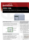 Shimadzu - Model RID-10A - Refractive Index Detector (RID) for HPLC Systems - Brochure