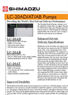 Shimadzu - Model LC-20AD/AT/AB - Liquid Chromatographs - Brochure