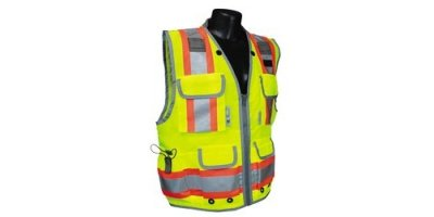 Radians - Model SV55 Class 2 - Heavy Woven Two-Tone Engineer Safety Vest