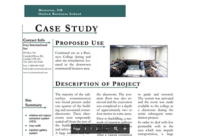 CASE STUDY - Moncton, NB Oulton Business School