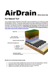 AirDrain for Sports Fields Brochure