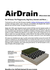 AirDrain for K9 areas