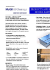 Products and Services Dust Suppression Baffle System - Brochure